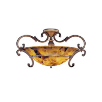 Metropolitan Gran Canaria 3 Light Semi-flush in Cartouche Bronze N6052-265