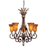 Metropolitan Gran Canaria 5 Light Chandelier in Cartouche Bronze N6055-265