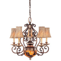 Metropolitan Gran Canaria 6 Light Chandelier in Cartouche Bronze N6061-265 photo thumbnail