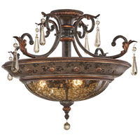 Sanguesa 3 Light 27 inch Sanguesa Patina Semi Flush Mount Ceiling Light
