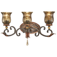 Sanguesa 3 Light 23 inch Sanguesa Patina Bath Bar Wall Light