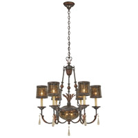 Sanguesa 8 Light 30 inch Sanguesa Patina Chandelier Ceiling Light
