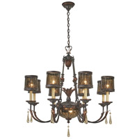 Sanguesa 10 Light 36 inch Sanguesa Patina Chandelier Ceiling Light