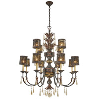 Sanguesa 14 Light 42 inch Sanguesa Patina Chandelier Ceiling Light