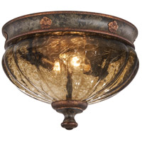 Sanguesa 2 Light 10 inch Sanguesa Patina Flush Mount Ceiling Light