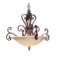Metropolitan Scarborough  6 Light Chandelier in Bronze Patina w/Silver Highlights N6092-18B