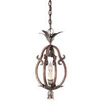Metropolitan Montparnasse French Black 1 Light Foyer Chandelier in Tuscan Patina N6103-196