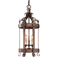 Metropolitan Montparnasse French Black 3 Light Foyer Chandelier in Tuscan Patina N6105-196