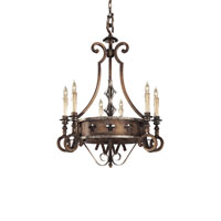Metropolitan Montparnasse French Black 6 Light Chandelier in Tuscan Patina N6106-196