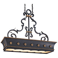 Montparnasse 12 Light 47 inch French Black/Gold Leaf Island Light Ceiling Light