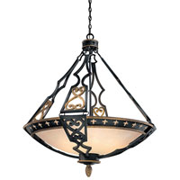 Metropolitan Montparnasse 10 Light Pendant in French Black w/Gold Highlights N6114-20 photo thumbnail