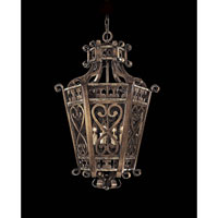 Metropolitan Montparnasse French Black 4 Light Foyer Chandelier in Tuscan Patina N6115-196