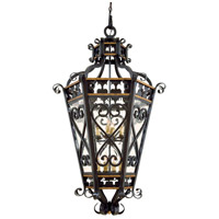 Montparnasse 8 Light 31 inch French Black w/Gold Highlights Pendant Ceiling Light