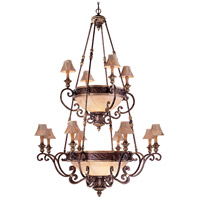 Zaragoza 16 Light 62 inch Golden Bronze Chandelier Ceiling Light