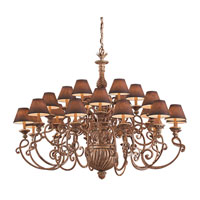 Metropolitan Pamplona 24 Light Chandelier in Aged Wood w/Gold Highlights (shade sold separately) N6137-34 photo thumbnail