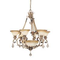 Metropolitan Torretta 6 + 1 Light Chandelier in Venata di Sabbia N6167-285