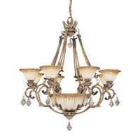 Metropolitan Torretta 8 + 1 Light Chandelier in Venata di Sabbia N6168-285 photo thumbnail