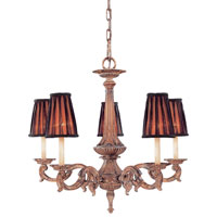 Metropolitan Mariner Metropolitan 5 Light Chandelier in Amaretto Patina w/Silver Highlights N6185-473