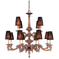 Metropolitan Mariner 12 Light Chandelier in Amaretto Patina w/Silver Highlights N6188-473