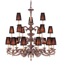 Metropolitan Mariner 21 Light Chandelier in Amaretto Patina w/Silver Highlights N6189-473