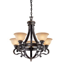 Metropolitan Catalonia 5 Light Chandelier in Aged Bronze N6205-26 photo thumbnail