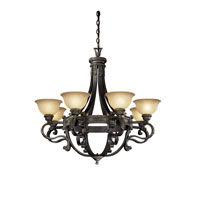 Metropolitan Catalonia 8 Light Chandelier in Aged Bronze N6208-26 photo thumbnail
