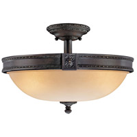 Metropolitan Catalonia 3 Light Semi Flush in Aged Bronze N6211-26