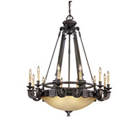 Metropolitan Catalonia 12 + 6 Light Chandelier in Aged Bronze N6212-26 photo thumbnail