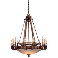 Metropolitan Catalonia II  18 Light Chandelier in Aged Walnut w/Gold Leaf Highlights N6212-488
