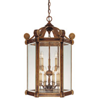 Metropolitan Catalonia II 9 Light Foyer Chandelier in Aged Walnut w/Gold Highlights N6215-488