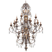 Signature 24 Light 69 inch Windsor Rust with Bronze and Gold Accents Chandelier Ceiling Light