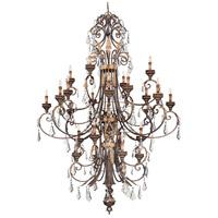 Metropolitan N6228-228 Signature 24 Light 69 inch Windsor Rust with Bronze Accents Chandelier Ceiling Light