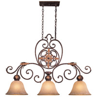 Zaragoza 3 Light 45 inch Golden Bronze Island Light Ceiling Light