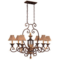 Metropolitan N6234-355 Zaragoza 6 Light 40 inch Golden Bronze Island Light Ceiling Light