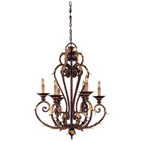 Zaragoza 6 Light 27 inch Golden Bronze Chandelier Ceiling Light