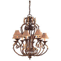 Zaragoza 8 Light 34 inch Golden Bronze Chandelier Ceiling Light