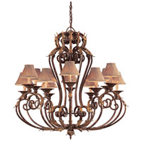 Zaragoza 12 Light 44 inch Golden Bronze Chandelier Ceiling Light