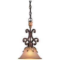Zaragoza 1 Light 10 inch Golden Bronze Mini Pendant Ceiling Light