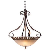 Zaragoza 5 Light 34 inch Golden Bronze Bowl Pendant Ceiling Light