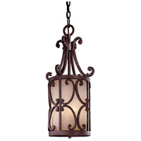 Zaragoza 3 Light 11 inch Golden Bronze Pendant Ceiling Light