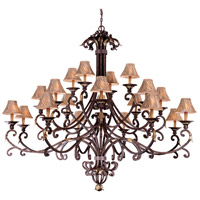 Zaragoza 20 Light 71 inch Golden Bronze Chandelier Ceiling Light