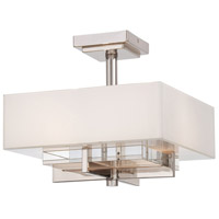 Metropolitan Eden Roe 2 Light Semi-Flush in Polished Nickel N6261-613