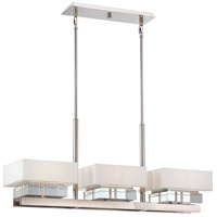 Metropolitan N6266-613 Eden Roe 6 Light 40 inch Polished Nickel Island Light Ceiling Light