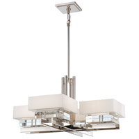 Eden Roe 8 Light 34 inch Polished Nickel Chandelier Ceiling Light