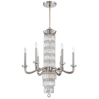 Metropolitan Crysalyn Falls 12 Light Chandelier in Polished Nickel N6282-613