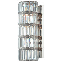 Crysalyn Falls 4 Light 6 inch Polished Nickel Wall Sconce Wall Light