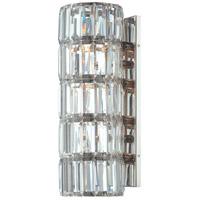 Metropolitan N6284-613 Crysalyn Falls 4 Light 6 inch Polished Nickel Wall Sconce Wall Light