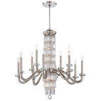 Metropolitan Crysalyn Falls 18 Light Chandelier in Polished Nickel N6285-613