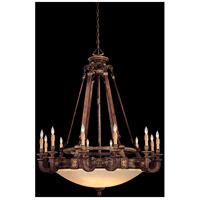 Metropolitan Catalonia II 18 Light Chandelier in Aged Walnut w/Gold Leaf Highlights N6292-488