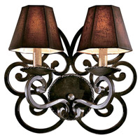 Metropolitan Castile 2 Light Sconce in Black Forest (shade sold separately) N6310-BF